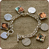 "<b>Tiffany-style Heirloom Bracelet $240</b>  Looking for a modern, elegant answer to the traditional charm bracelet? This Tiffany-style bracelet comes with one 5/8"" photo charm in either a circle or square. With these beautiful bracelets, you can customize your piece in multiple ways: add photos or mix-and-match with stamped charms. Charms may be purchased individually, so it can even grow along with your family. The possibilities are endless!"