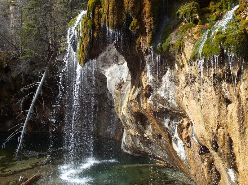 "the waterfall at Hanging Lake, near Glenwood Springs  <a href=""http://en.wikipedia.org/wiki/Hanging_Lake"">http://en.wikipedia.org/wiki/Hanging_Lake</a>"