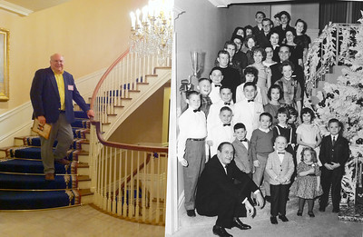 John_at_the_Mansion_Then_and_now. 50 Years ago! That's me on the front row opposite Governor Faubus. December 1961. The big me is September 8, 2011. Governor Bebee has already gone to bed.