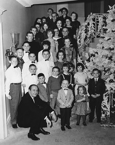 That's Governor Faubus, John Blakney on the front row right side. The Fuller Brothers of the hardware stores are in the white jackets. December, 1961 1961-12-faubus-jtb-1