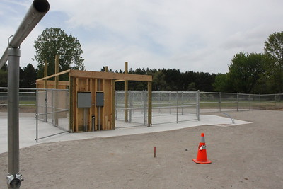 Mt. Pleasant's future dog park features a paved entrance and separate areas for small and large dogs.