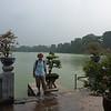 Re with Hoan Kiem Lake behind