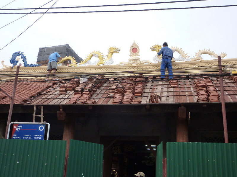 reroofing a pagoda
