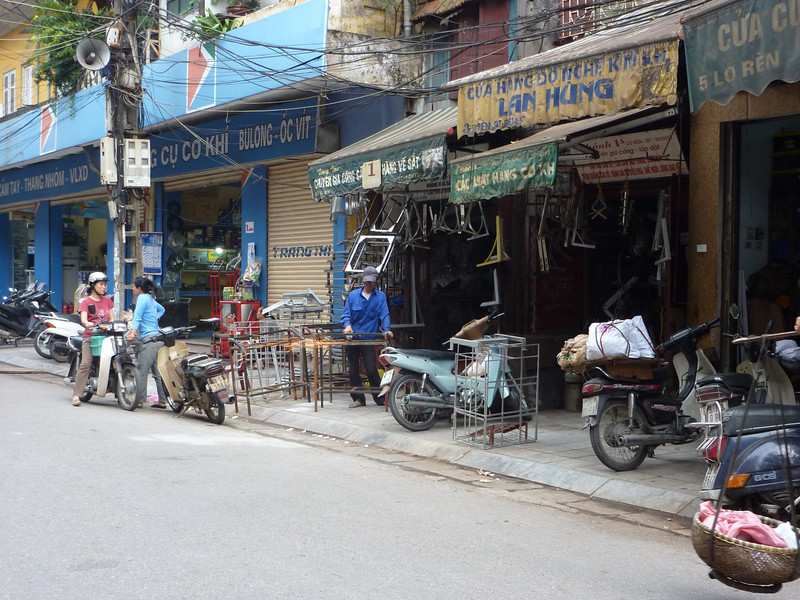 Each street in old Hanoi was dedicated to a particular specialty, this one was metalworking