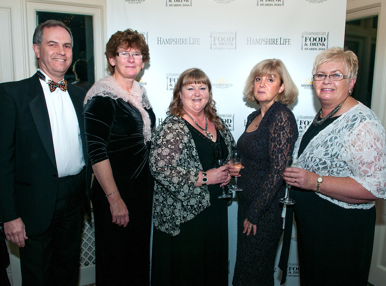 Mike Edwards, Anne Edwards, Sharon Fielding, Fiona James and Linda Hughes