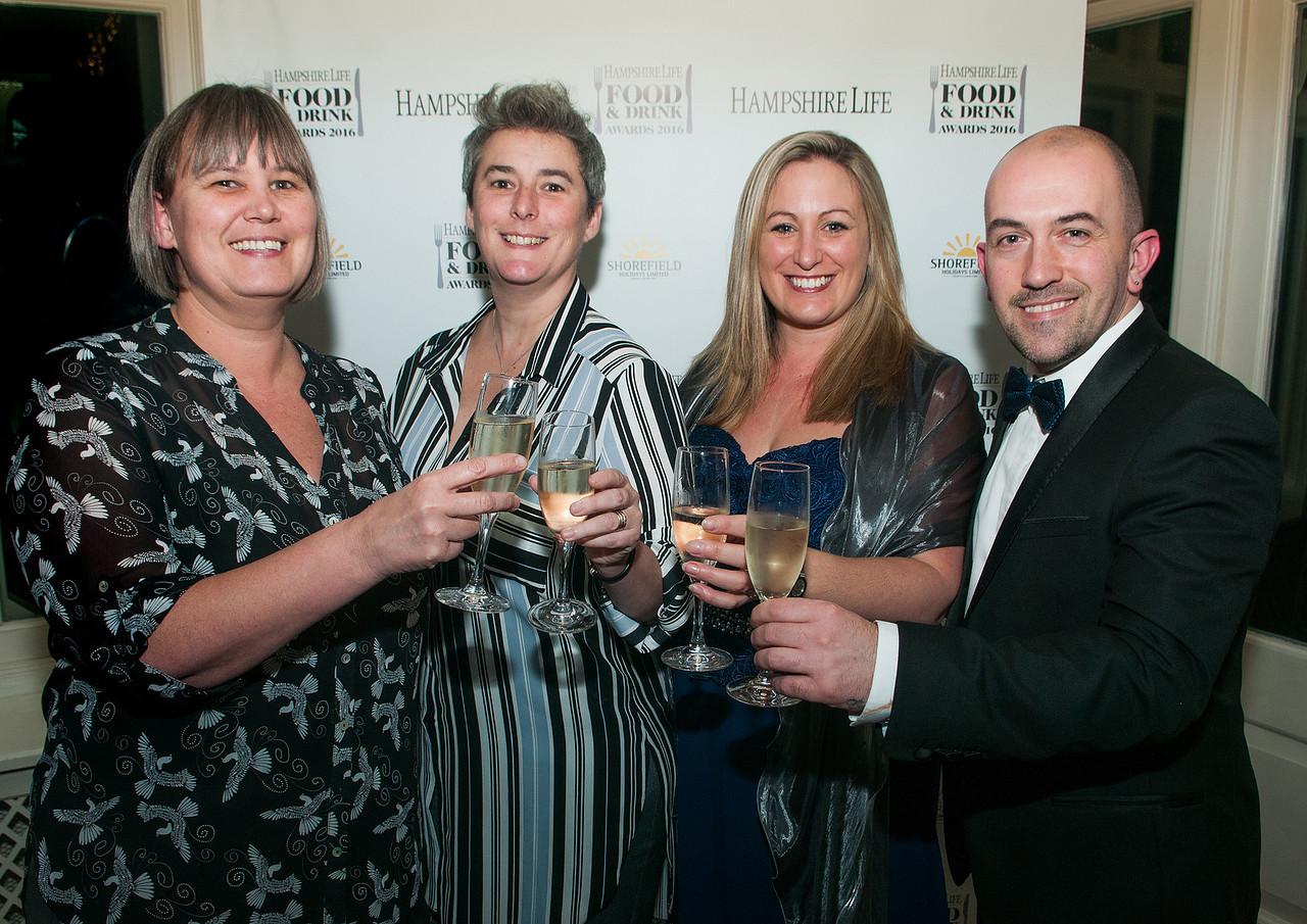 Jo Kelsey, Min Broughton, Emma Jones and Gareth Jones of the Odiham Cake Company