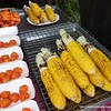 Corn on the cob for sale at the night market in Khao Lak, Thailand in August 2017