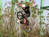 """Philippe Rancourt does a """"Superman"""" on his bike"""
