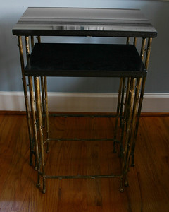 "#11  REDUCED:  $75  $$$SOLD$$$ GDC MarbleTop Nesting Table:  $95 Original $225 price tag. 18.75"" Wide (largest table)"
