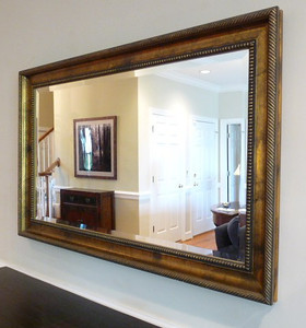 "#7  $$$SOLD$$$ REDUCED:  $50 Decorator Mirror:  $75 4' wide x 32"" tall"