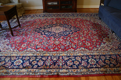 "#4  $$$SOLD$$$ Large wool rug:  $295 122""x158"""