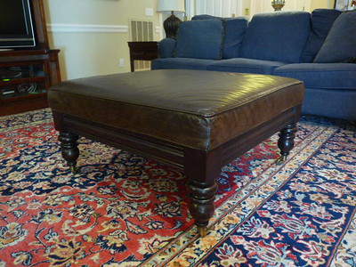 #2 Basset leather ottoman:  $195  SOLD