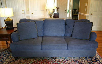 #1 $$SOLD$$ Bassett sofa:  $195 Not mint but nice! 7' long