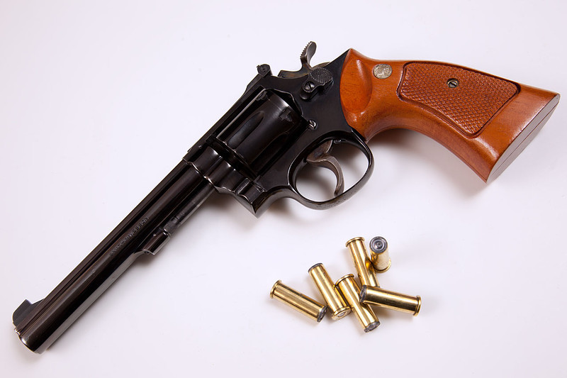 """S&W  single action 6"""" model 14-3 """"K-38 Masterpiece"""" .38 special"""