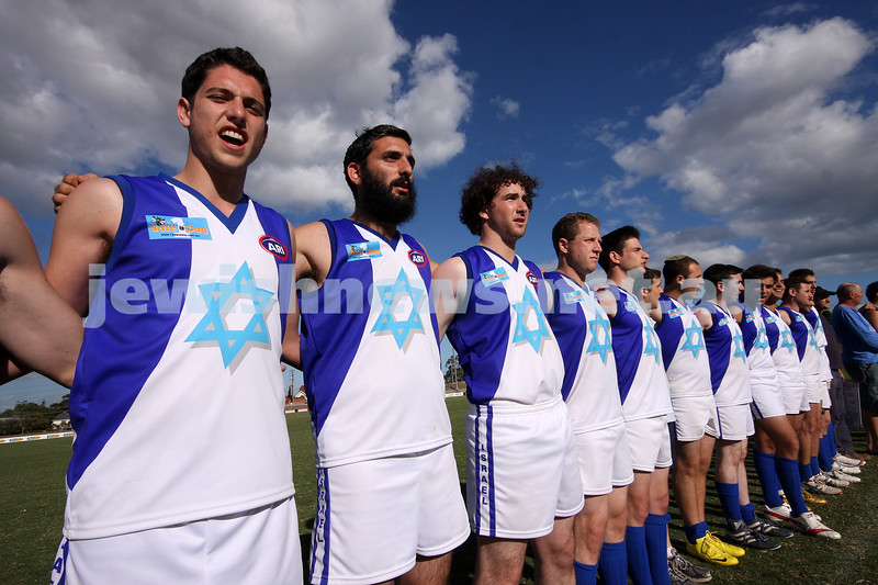 21/3/10. Harmony Cup football tournament, Whitten Oval. Israel v Lebanon. Photo: Peter Haskin