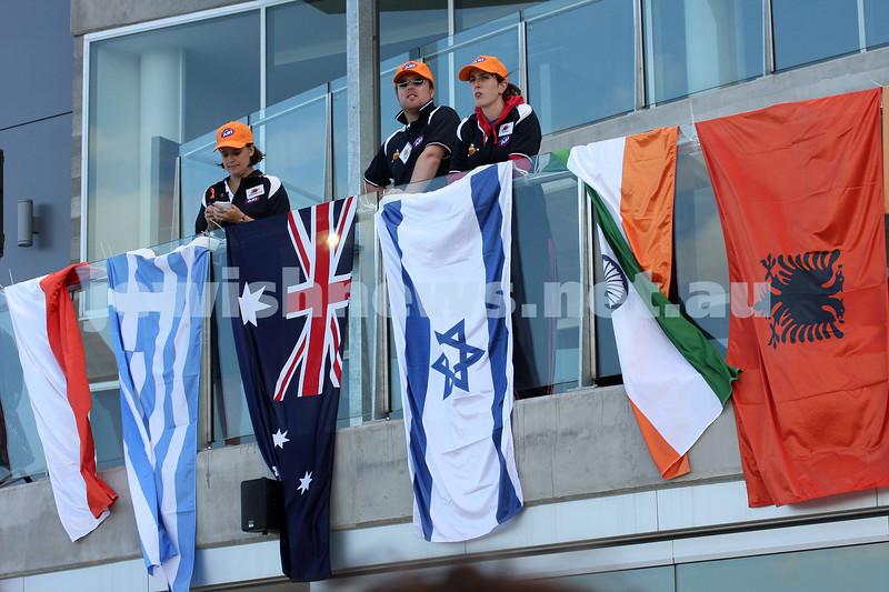 21/3/10. Harmony Cup football tounament at Whitten Oval. Israel v Lebanon. Photo: Peter Haskin