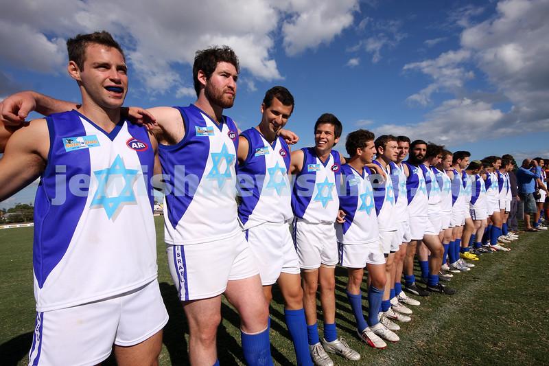 21/3/10. Harmony Cup football tournament, Whitten Oval. Israel v Lebanon. Photo: Peter Haskin