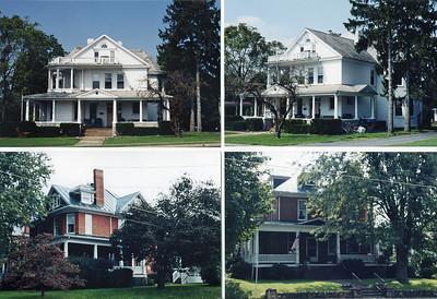 "White frame house is located in Harrisonburg, VA.  It belonged to J. Samuel Harnsberger & Caroline ""Carrie"" Virginia Harnsberger.  The red brick belonged to their son Gilbert Harnsberger."