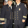 Chief Carlos Huertas and Fire Marshal Roger Martin