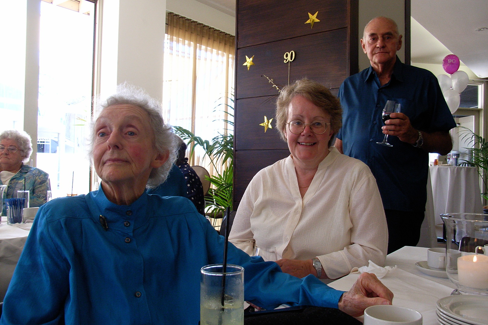 Pam, Debbie and Harvey, Syb's 90th Birthday Party, Melbourne, 2009
