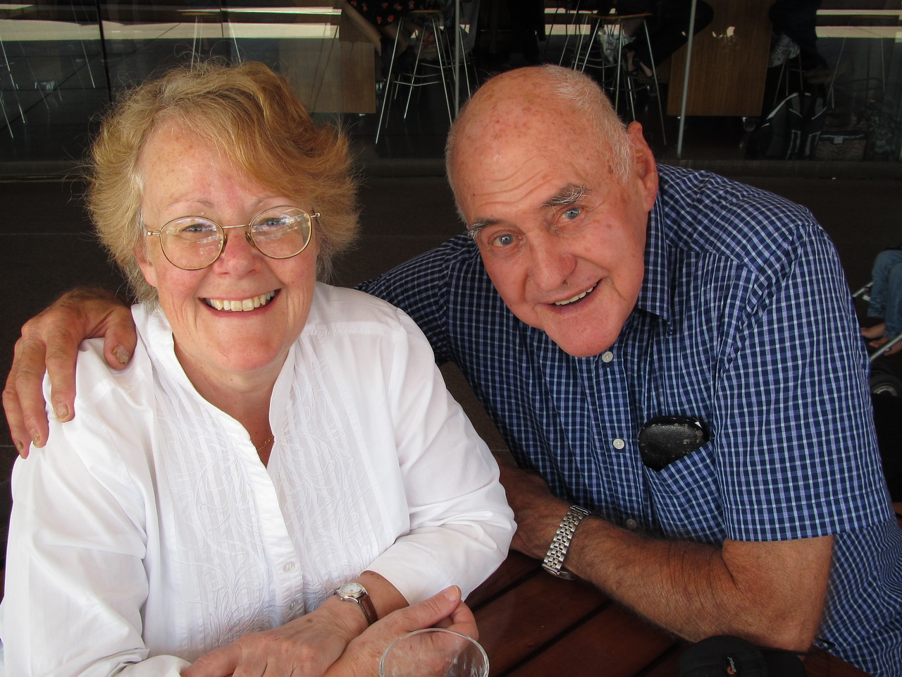 Harvey and Debbie, Circular Quay, Sydney, 2012
