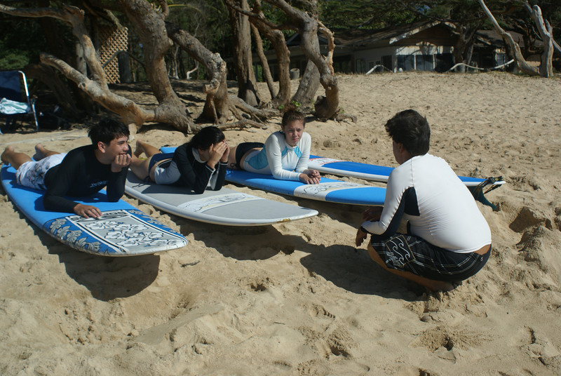 Surf lessons with Doug