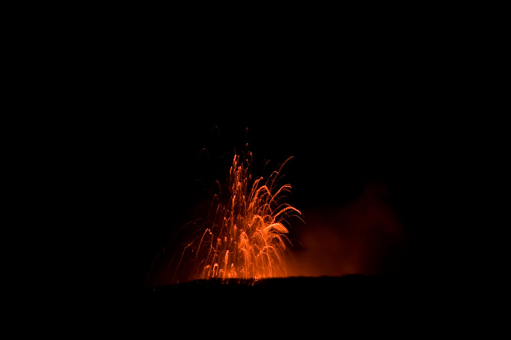 Kilauea at night.