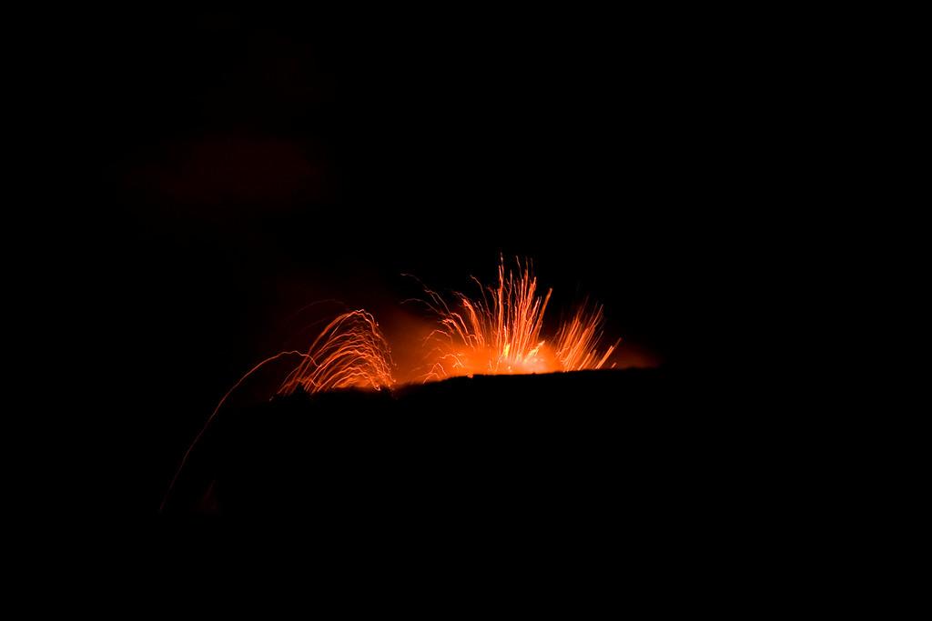 Kilauea at night.