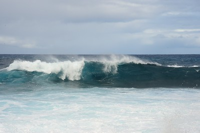waves were bigger on the east side of the island