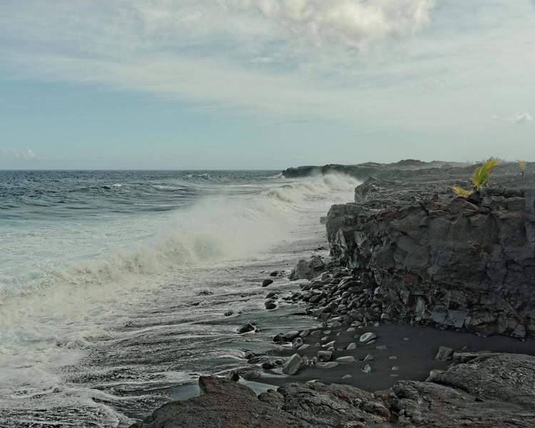 Black Sand Beach at Kalapana