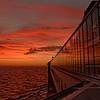 Sunset Reflection on Ship Windows