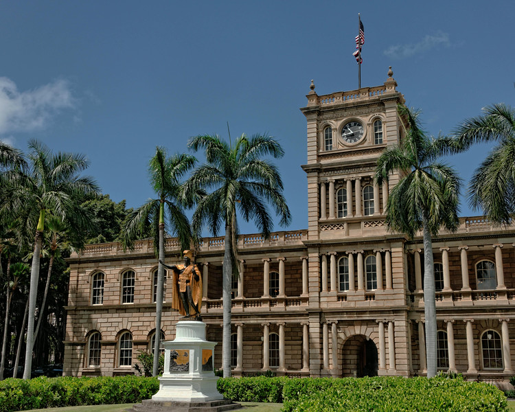 Statue of Kamehameha I, the King who united Hawaii in 1810
