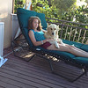Kelsey & Murphy relaxing on the deck.