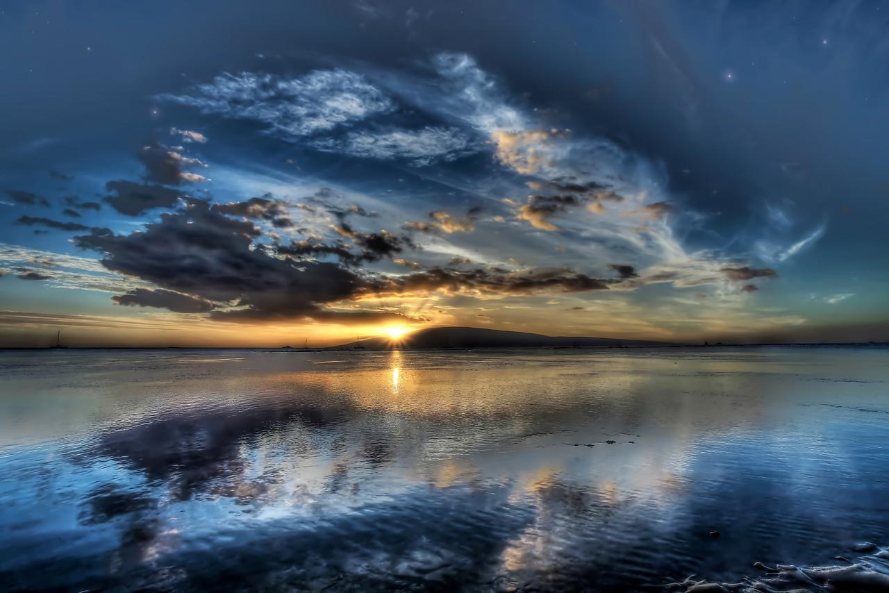 "Drone Aerial Prints & More - ""Sharkpit Sunset"" - Island of Maui, Hawaii"