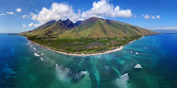 "Drone Aerial Prints & More - ""Maui Paradise Panorama"" - Island of Maui, Hawaii"