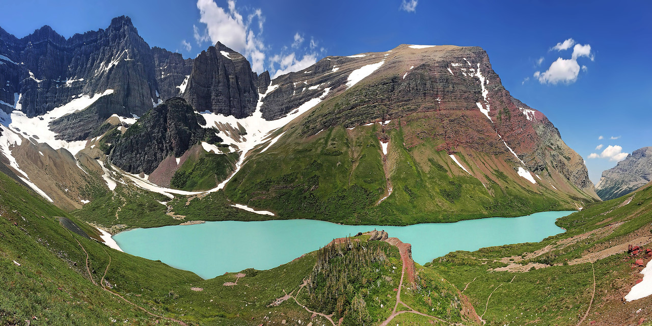 "Drone Aerial Prints & More - ""Cracker Lake"" - Glacier National Park - Montana"