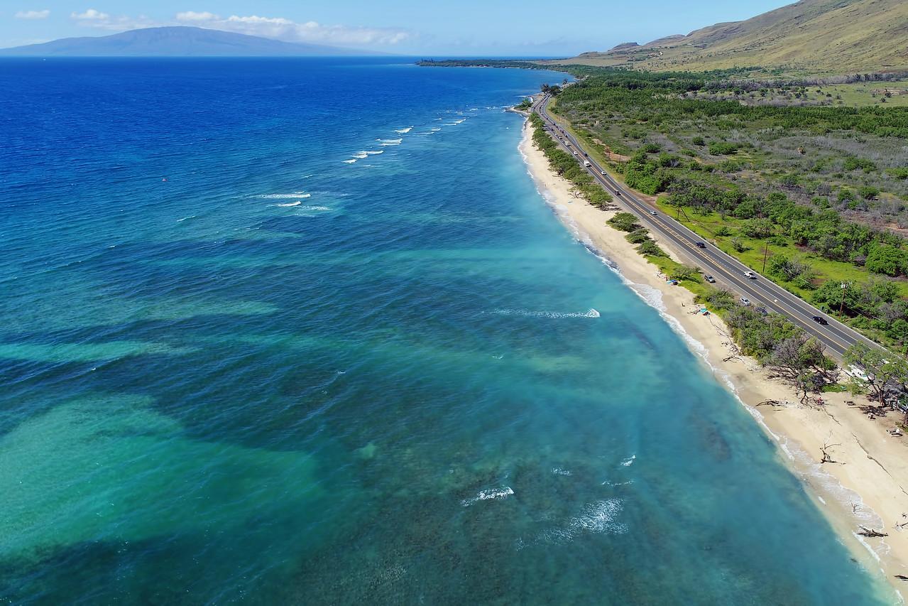 "Drone Aerial Prints & More - ""Ukumehame Beach"" - Island of Maui, Hawaii"