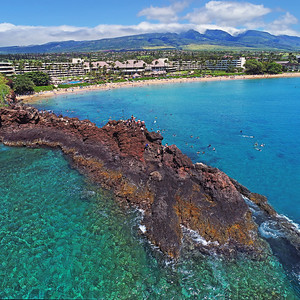 "Drone Aerial Prints & More - ""Black Rock Jump"" - Ka'anapali Beach - Maui, Hawaii"