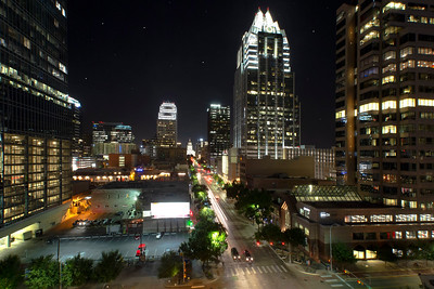 """Drone Aerial Prints & More - """"Austin at Night"""" - Texas - Joe West Photography"""