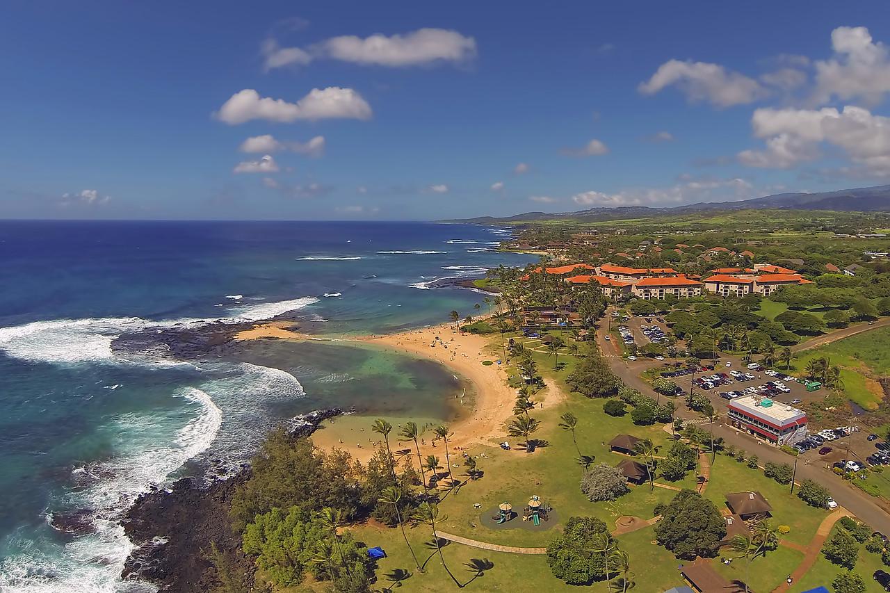 Aerial Drone Print - Poipu Beach - Island of Kaua'i
