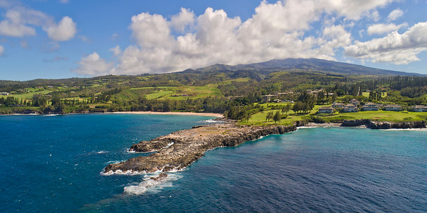 "Hawaii Drone Photography - ""Makaluapuna Point"" (Dragon's Teeth) - Island of Maui - Hawaii"