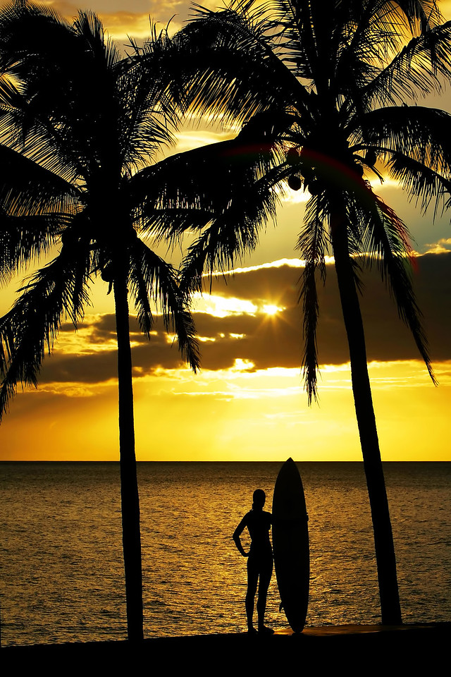 """Drone Aerial Prints & More - """"End of the Day"""" - Hawaii"""