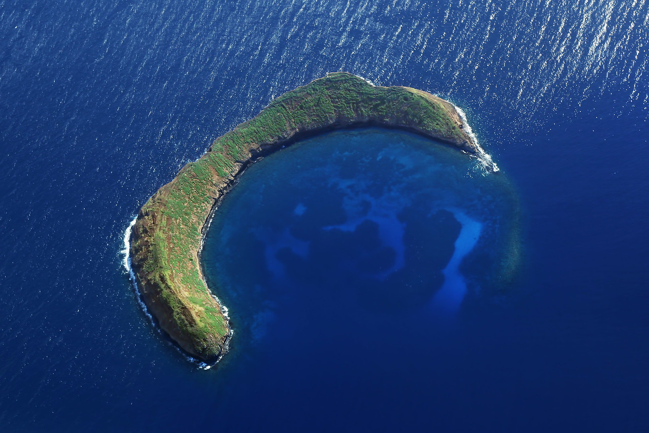 Molokini Crater - Aerial View Near Maui - Joe West Photography