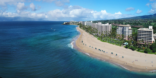 "Drone Aerial Prints & More - ""Kaanapali Beach Pano"" - Maui, Hawaii"