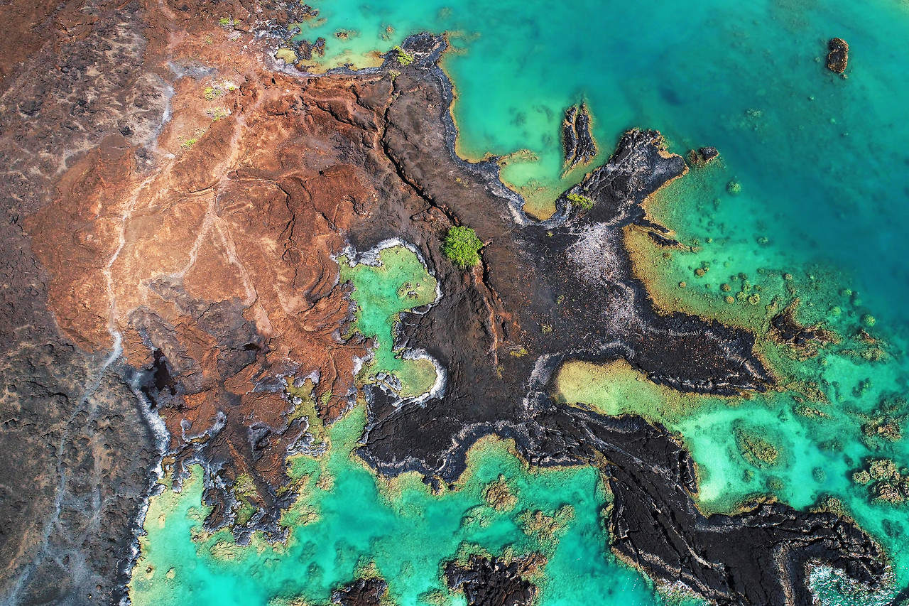 "Drone Aerial Prints & More - ""Lava Colors 1"" - La Perouse Bay - Island of Maui, Hawaii"