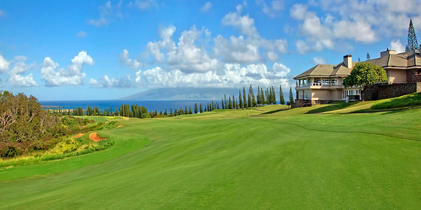"""Early Morning on #18"" - Kapalua - Plantation Golf Course - Maui, Hawaii"