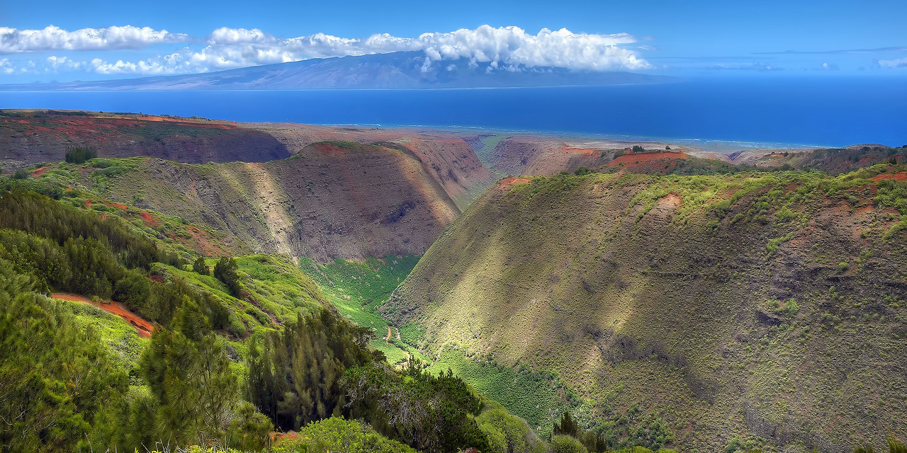 """Maunalei Gulch"" - Island of Lana'i, Hawaii"