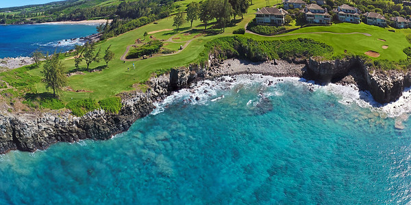 "Drone Aerial Prints & More - ""Kapalua Bay Course #5"" - Island of Maui - Hawaii"