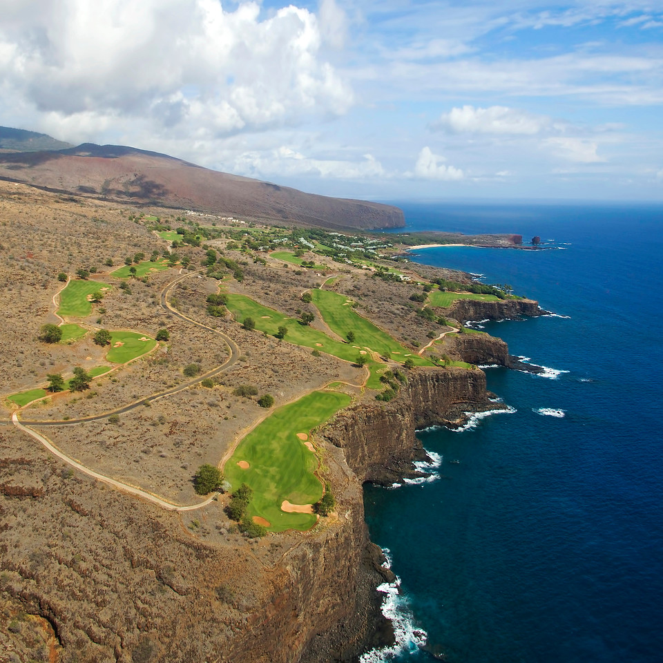 "Drone Aerial Prints - ""Manele Bay Golf Course"" - Island of Lana'i, Hawaii"