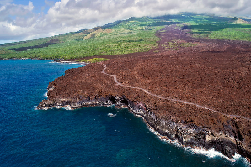 """Drone Aerial Prints - """"Hoapili Trail 2"""" - Island of Maui, Hawaii"""
